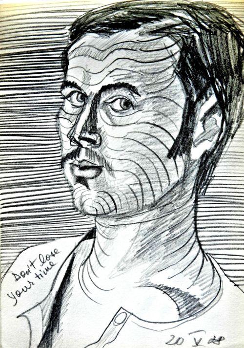 autoportret zebrat 20 mai 78